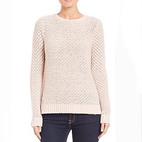 REBECCA TAYLOR METALLIC TEXTURED PULL OVER SWEATER